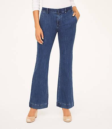 LOFT Curvy Trouser Jeans in Modern Indigo Wash