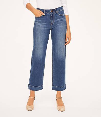 LOFT Curvy High Rise Slim Wide Leg